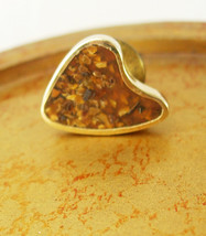 Abstract Artist Palette Vintage Tie Tac Lapel Pin Gold Filled Mosaic Sto... - $50.00