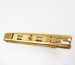 Swank Extra Large Initials RAF Tie Clip Vintage Deco Monogram Frosted Ho... - $40.00