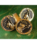 Visually Challenged SEEING GUIDE DOG Cufflinks Vintage Tie Clip Set for ... - $185.00