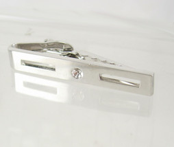 Vintage Silvertone Industrial Bar Tie Clip Birthday Wedding Business - $20.00
