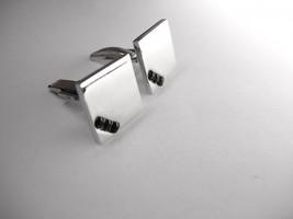 Vintage Modernist Jewel Cufflinks Black Wedding Businessman Patent Pending - $25.00