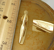 Swank Gold Filled Etched Tie Clip Vintage Retro Design Birthday Business Wedding image 5