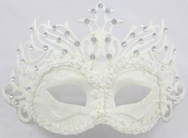 Venetian Goddess Masquerade Mask with High Fashion Lace & Diamonds mk44 - $26.00