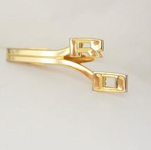 Vintage Initials RO Goldtone Tie Clip Retro Unique Signet Wedding Birthday Busin - $60.00