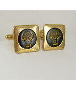 Vintage Elks Head Lodge Cufflinks Black BPOE Fraternal Goldtone Birthday... - $55.00