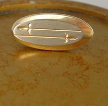 Miniature Swank Fleur de Lis Tie Clip Vintage Two Tone Brushed Silver Go... - $35.00