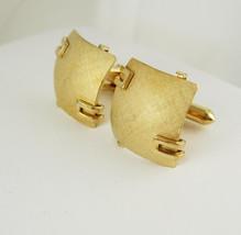 Swank Brushed Gold Cufflinks Vintage Wedding Anniversary Holiday - $60.00