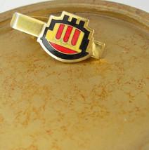 Vintage Red Gold Black Emblem Tie Clip Belgium Flag Colors Gold Filled B... - $55.00