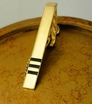Vintage Art Deco Black Enamel Tie Clip Gold Filled Executive Business We... - $50.00