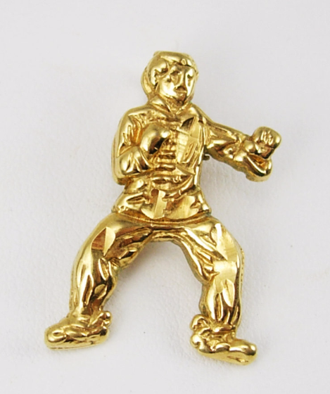 Karate pendant Vintage kick boxer pendant karate figural advertising athletics s