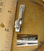 Vintage Bow Tie Design Silver Tie Clip Swank Holidays Birthday Business image 3