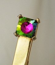 Vintage Watermelon Rhinestone Tie Clip Swank Large Holidays Birthday Wed... - $65.00