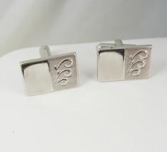 Shields Engravable Signet Silver Cufflinks Vintage Blank Initials Holidays Birth - $45.00