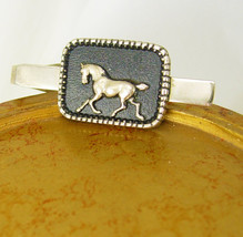 Vintage Horse Enamel Tie Clip Equestrian Rodeo Rancher Holiday Birthday - $60.00