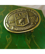Bass Anglers SPORTSMAN Buckle Vintage 25th Anniversary  Fish Men's Belt ... - $55.00