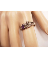 Amethyst  deco Mystical Ring  Sterling Signed B&H vintage - $50.00