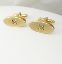 Swank Button Knot Cufflinks Vintage Double Concave Oval Disc Business Birthday - $45.00