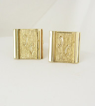 Vintage Swank Double C Inscribed Cufflinks Script Signet Hallmarked with S Anniv - $60.00