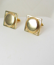 Swank Engravable Vintage Cufflinks Square Signet Business Holiday - $55.00