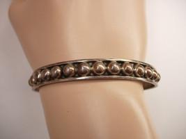Vintage sterling Industrial Bracelet Ball Cuff hallmarked Mexico Cuernav... - $135.00