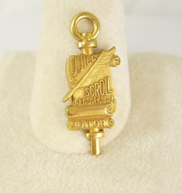 Vintage Gold Filled Quill Scroll Pendant Charm Editor High School Honor ... - $75.00