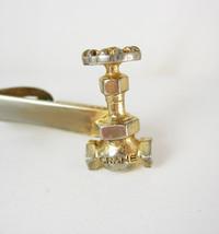 Crane Gate Valve Faucet Tie Clip Vintage Industrial Plumbing Water Spigo... - $65.00