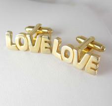 Hippie Love Cufflinks Vintage Designer Dante Fine Jewelry Wedding gold anniversa - $95.00