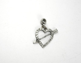 Vintage Cupids Arrow Charm Pendant Heart Sweetheart Birthday - $15.00
