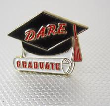 Vintage DARE Graduate Enamel Lapel Pin Tie Tack America Business Birthda... - $20.00