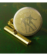 Gemini Astrology Twins Gold Filled Tie Tack with Chain Sign of the Zodia... - $45.00