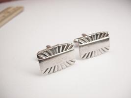 Vintage Elegant Modernist Cufflinks Signed Speidel - $15.00
