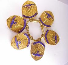 Vintage Deco bracelet Award Charm Keepsake National Safety Council Safe ... - $135.00