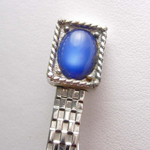 Vintage Blue Cats Eye Tie Clip MOONGLOW Swank designer Men's Fine Tie Ac... - $55.00