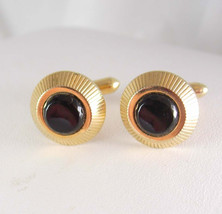 Swank Black Onyx Cufflinks Vintage Mens Women's Fine Jewelry - $65.00