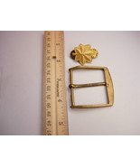 Vintage Lot Military Belt Buckle and  Major Oak Leaf Rank Lapel Pin - $25.00
