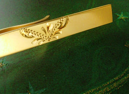 Gold Filled Tie Clip Victorian Design Vintage Marked CMC GF Diamond Cut ... - $50.00