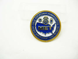 Vintage MET Tie Tac Lapel Pinback  Mobile Team Drug Enforcement enamel - $45.00