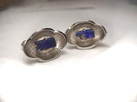 Vintage Blue scottish agate Cufflinks Signed Anson - $35.00