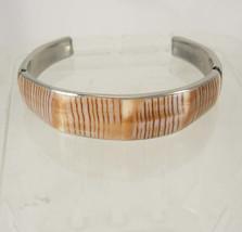 Vintage Shell Tropical Bracelet Bangle Cuff Silvertone Birthday Friendsh... - $25.00