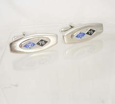 Vintage WestingHouse electric cufflinks enamel Balfour wedding anniversa... - $85.00