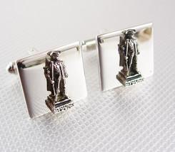 Balfour Minute Man Cufflinks Vintage Silver Paul Revere Civil War Figura... - $95.00