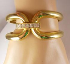Large Buckle Baguette Rhinestone clamper bracelet High Fashion - $45.00