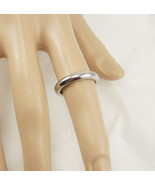 Vintage stainless steel wedding ring band italy milor size 6 wedding - $50.00