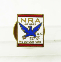 Vintage NRA Enamel Tie Tac Lapel Pin Red White Blue Birthday Fathers Day... - $35.00
