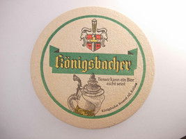Konigsbacher Brauerei Vintage Coaster Koblenz Germany Deustch - $9.00