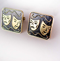 Extra Large DRAMA COMEDY Cufflinks Vintage Tragedy Musical Theater Shirt... - $70.00