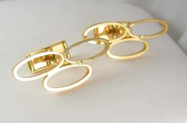 HUGE 3 Rings Cufflinks Vintage Circus OLYMPIC Rings Eternity Clothing Ac... - $75.00