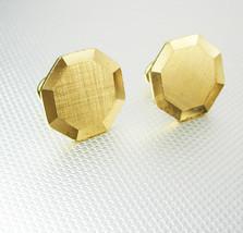 Octagon Gold Filled Cufflinks Vintage Diamond Cut Edges Hallmarked Old S... - $55.00