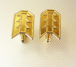 Speidel Pagodas Cufflinks Vintage Gold Filled Arrows Designer - $60.00