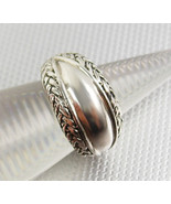 Sterling Silver Wedding Band 5.4 Grams Vintage Ring Size 6 Braided Edges - $65.00